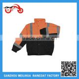 Custom Oxford Waterproof Fleece Lined Winter Construction Safety Jacket With Reflective Strips