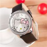 The New 2015 Hello Kitty 6 KT Hello Kitty Drill Leather Strap Watch Wrist Watch Children Watch Fashion Watch,Welcome To Sample Custom