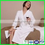 Sexy women sleep wear luxury home cotton waffle bathrobe