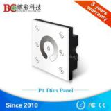 Fashion design 4 channel wall mounted single color led dimmer touch screen light control switch