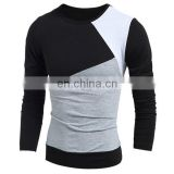 Classic Multicolor Splicing Slimming- Round Neck Long Sleeves Vogue T-Shirt For Men-customise summer wear tshirt