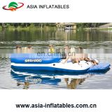 Capacity 6 Person Inflatable Raft Pool Tropical Tahiti Ocean Floating Island Inflatable Water Lounge
