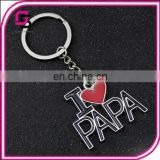 2017 fashionable keyrings,Father's Day gift keyrings, enamel metal keyrings