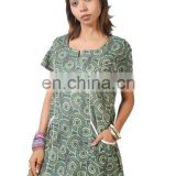 designer cotton block printed kurti