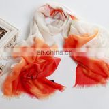2015 Newest style fashion design woman cashmere hand-painted stole(CD007L)