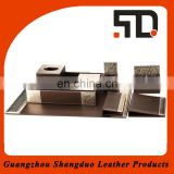 Manufacture Competitive Price Top Quality Hotel Magazine Shelf Leather Desk Set