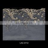 Elegant Swiss voile lace fabric with lurex