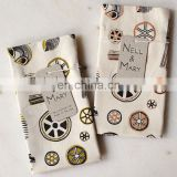 100% cotton kitchen textile custom printed tea towels /dish towel(many design for choose)