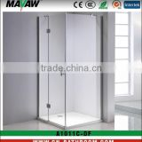 new design tempered safety glass square brass hinged shower enclosure/cabin/room MV-A1011C-DF