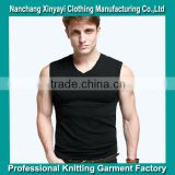 2014 hot sale gym tank top for men .muscle tank tops black tank tops , wholesale from garment factory supply