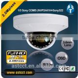 New Product Sony COMS Sensor 2MP AHD CCTV Camera fixed lens with osd Full HD resolution 1080P video HD Security Camera