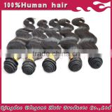 Human Hair Extension 7A Top Quality Wholesale body wave Weft indian Hair, no tangling no shedding