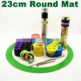 Custom logo printing and size silicone dabber mat silicone mat jar tool silicone mats for oil wax