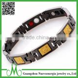 Wholesale magnetic jewelry scalar energy magnetic gold bracelet