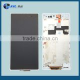 china mobile LCD screen and touch assembly with frame for Sony Xperia Z Ultra XL39 white