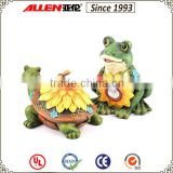 Hot sale carve patterns unique sunflower light solar garden ornaments