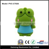 Direct by China Alibaba Lovely gift usb , frog usb drive , cartoon usb drive for hot selling (PVC-CT826)