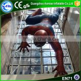 Large inflatable spiderman replica, superhero inflatable character inflatable superhero for sale
