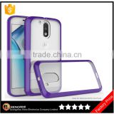 Clear Plastic bumper acrylic case for MOTO G4 plus top popular tpu thin cell phone case Cover For Motorola G4 Plus