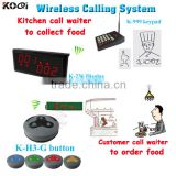Kitchen Call Waiter System K-999 Keyboard For Cook And Buzzers For Customer K-236+K-999+K-H3-G