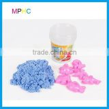 400g Cheap Non Toxic Children New DIY Toy Super Magic Modeling Play Sand with mould in bucket