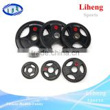 environmentally friendly Weight plate Type Hand grip Olympic bumper rubber coated barbell training plates