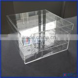 Acrylic material flower arrangement box 16pcs rose package display case acrylic rectanglar flower vases