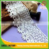 Factory supplier cotton turkish french net embroidered lace for bridal,garment,dress,home textile