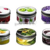 Wholesale tin box round scented candles 7.5x4.5cm height                                                                         Quality Choice