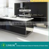 wholesale price cheap china factory directly custom high gloss black lacquer kitchen cabinet