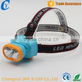 Best Selling Sky Blue 2 LED Rechargeable 400mah Flashlight Waterproof of Plastic Head Lamps