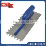 280mm Plastering Trowel carbon steel notched blade plate with ABS plastic handle masonry tool plaster tools