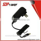 SDPower 18w 9v2a 12Vdc 1.5A power adapter wallmount type with CE/UL/RoHS/FCC/SAA certified