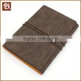 Spiral style and leather cover material pu leather planner with elastic band