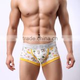 High quality cotton man brand fashion underwear boxer short trunk sexy low waist 3D Ucrotch panties underpants                                                                         Quality Choice