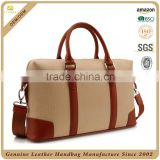 CSLRB277-001 camel canva with brown plain leather trim business travel bag                                                                         Quality Choice                                                                     Supplier's Choice