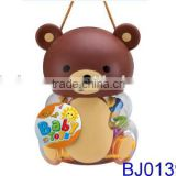 Funny gift for baby lovely bear bottle with infant rattles and teether