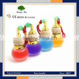 Cucurbit shape cosmetic cheap empty mini car hanging perfume bottle with different size and colour