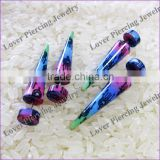 Hot Print Body Piercing Jewelry Ear Taper Plug Fake Wholesale Jewelry [PF-603A]
