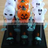 Halloween Kids Plastic LED Flashing Light Toy pumpkin skull heads ghost led lights toy wholesale                                                                                                         Supplier's Choice