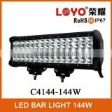 12inch 144W off road four rows LED light bar IP67 for SUV UTV ATV truck 4 row 4x4 led light bar