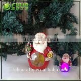 Custom santa claus resin with snow globes wholesale for led christmas decoration
