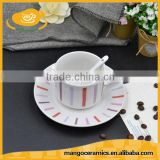 Enamel ceramic tea and coffee cup and sacuer set for gift