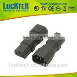 IEC 320 C14 to C13 straight electronical adapter, IEC C13 to C14 180 degree electronical adapter