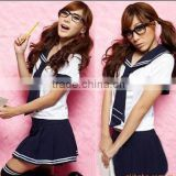C604 Sexy Anime Blue Cosplay Students Lattice Lingerie Japanese School Girl Uniform