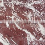 Foshan Building Material red colour good quality marble floor tiles