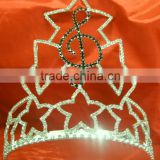 Music note rhinestone pageant crown