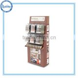 Customize hook display stand for furniture , peg display rack for bottle , cardboard hook display rack for store