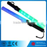 Green led police baton Traffic equipment flashlight stick plastic wand