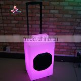 IP44 bluetooth seven color changing plastic bar trolly speaker enclosure